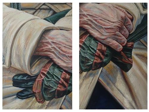 Peut-etre a demain, Acrylique sur toile, 2015,  (100x80cm)x2